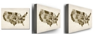 "Trademark Global Michael Tompsett 'US - Watercolor' Canvas Art - 32"" x 24"""