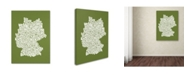"Trademark Global Michael Tompsett 'OLIVE-Germany Regions Map' Canvas Art - 47"" x 30"""