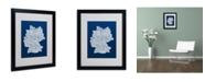 "Trademark Global Michael Tompsett 'NAVY-Germany Regions Map' Matted Framed Art - 20"" x 16"""