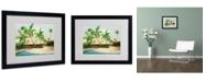 """Trademark Global Rio 'Hidden Cove' Matted Framed Art - 20"""" x 16"""""""