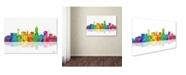 "Trademark Global Marlene Watson 'Lincoln Nebraska Skyline II' Canvas Art - 30"" x 47"""