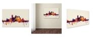 "Trademark Global Michael Tompsett 'Pittsburgh Skyline IV' Canvas Art - 30"" x 47"""