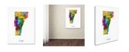 """Trademark Global Michael Tompsett 'Vermont Map' Canvas Art - 24"""" x 32"""""""