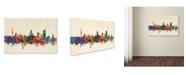 "Trademark Global Michael Tompsett 'Leipzig Germany Skyline III' Canvas Art - 12"" x 19"""