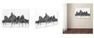 "Trademark Global Marlene Watson 'Dallas Texas Skyline BW' Canvas Art - 12"" x 19"""