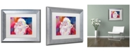 "Trademark Global Richard Wallich 'Santa' Matted Framed Art - 11"" x 14"""
