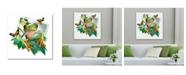 "Trademark Global Howard Robinson 'Green Frog Photograph' Metal Art - 16"" x 16"""