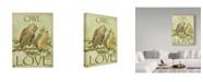 "Trademark Global Jean Plout 'Owl Love' Canvas Art - 14"" x 19"""