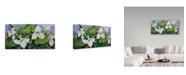 "Trademark Global Joanne Porter 'Woodland Trillium' Canvas Art - 10"" x 19"""