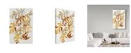 "Trademark Global Joanne Porter 'Rust Colored Oak Leaves' Canvas Art - 12"" x 19"""