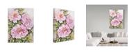"Trademark Global Joanne Porter 'Peonies' Canvas Art - 14"" x 19"""