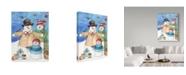 "Trademark Global Melinda Hipsher 'Happy Holiday Snow' Canvas Art - 14"" x 19"""