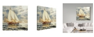 "Trademark Global Steve Henderson 'Ahead Of The Storm' Canvas Art - 14"" x 14"""