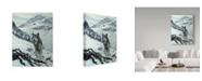 "Trademark Global Ron Parker 'Winter Crossing Wolf' Canvas Art - 14"" x 19"""