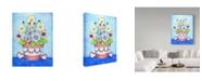 "Trademark Global Valarie Wade 'Red Flower Pot' Canvas Art - 14"" x 19"""