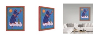 "Trademark Global Willow Bascom 'Cat On Cloud' Canvas Art - 14"" x 19"""