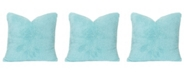 "Crayola Playful Plush Robin's Egg Blue 26"" Designer Euro Throw Pillow"