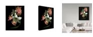 """Trademark Global Susan S. Barmon 'White Amaryllis And Alstromeria' Canvas Art - 35"""" x 47"""""""