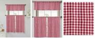 Duck River Textile Umid 3-Piece Check Kitchen Curtain Set