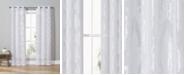 "Duck River Textile Josephina 38"" x 84"" Damask Sheer Curtain Set"