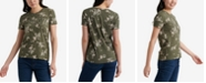 Lucky Brand Cotton Floral-Print Logo T-Shirt