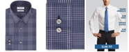 Calvin Klein Calvin Klein Men's Steel Slim-Fit Stretch Performance Non-Iron Temperature-Regulating Blue Check Dress Shirt
