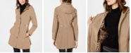 Via Spiga Water Resistant Hooded Raincoat, Created for Macy's