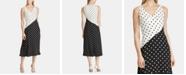 Lauren Ralph Lauren Polka-Dot-Print Sleeveless Crepe Dress