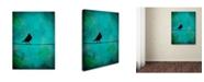 """Trademark Global Nicole Dietz 'Bird's Attention' Canvas Art - 14"""" x 19"""""""