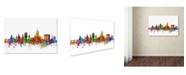 """Trademark Global Michael Tompsett 'Aberdeen Scotland Skyline II' Canvas Art - 12"""" x 19"""""""