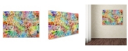 "Trademark Global Michael Tompsett 'London England Street Map II' Canvas Art - 14"" x 19"""