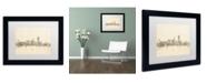 """Trademark Global Michael Tompsett 'San Francisco Sheet Music II' Matted Framed Art - 11"""" x 14"""""""