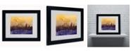 "Trademark Global Michael Tompsett 'London England Skyline III' Matted Framed Art - 14"" x 11"""