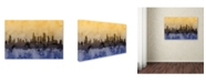 "Trademark Global Michael Tompsett 'Chicago Illinois Skyline IV' Canvas Art - 12"" x 19"""
