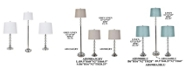 Crestview Collection Set of 3 Metal Table Lamps and Floor Lamp with Crystal Ball