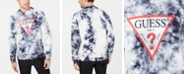 GUESS Men's Tie-Dye Logo Graphic Fleece Sweatshirt