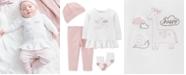 Carter's Baby Girls 4-Pc. Cotton Top, Pants, Socks & Hat Set