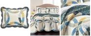 Martha Stewart Collection Wedding Rings Blue Standard Sham, Created for Macy's