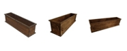 Leisure Season Hamilton Rectangular Wooden Planter