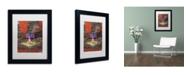 "Trademark Global David Lloyd Glover 'The Old Sundial' Matted Framed Art - 11"" x 14"""