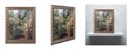 "Trademark Global David Lloyd Glover 'Quiet Garden Entrance' Ornate Framed Art - 16"" x 20"""