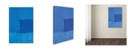 """Trademark Global Claire Doherty 'Abstract Blue' Canvas Art - 12"""" x 19"""""""