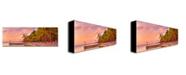 "Trademark Global Preston 'Cayman Beach' Canvas Art - 24"" x 8"""