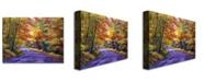 "Trademark Global David Lloyd Glover 'New England Road' Canvas Art - 47"" x 35"""