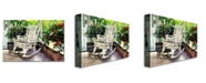 "Trademark Global David Lloyd Glover 'Summer Sun Porch' Canvas Art - 32"" x 22"""