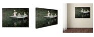 "Trademark Global Claude Monet 'The Boat at Giverny' Canvas Art - 32"" x 24"""