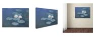 "Trademark Global Claude Monet 'Waterlilies Evening' Canvas Art - 47"" x 35"""