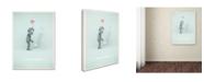 """Trademark Global Christian Jackson 'Sad Robot' Canvas Art - 19"""" x 14"""""""