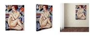 "Trademark Global Catherine Abel 'Cubist Nude Orange and Purple' Canvas Art - 14"" x 19"""