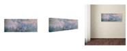 """Trademark Global Claude Monet 'Water Lilies 1914-22' Canvas Art - 19"""" x 6"""""""